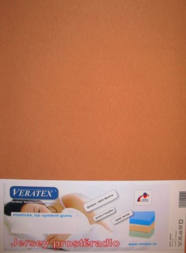 VERATEX Jersey prostěradlo 120x200 cm (č.34-sv.rezavá)