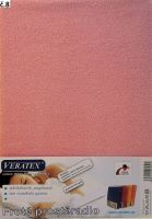 VERATEX Froté prostěradlo jednolůžko 90x200/16cm (č. 8-růžová)