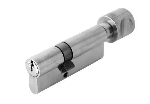 Stavební cylidrická vložka DMO 51/31G barva stříbrná s knoflíkem