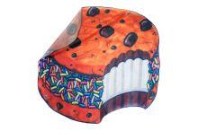 Rychleschnoucí plážová podložka 135 cm, vzor: sušenka