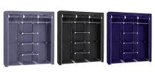 Herzberg HG-8011: Šatní skříň - střední černá