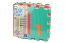 Měkké puzzle bloky (32cm) s číslicemi - Set 10ks - 8590331186303