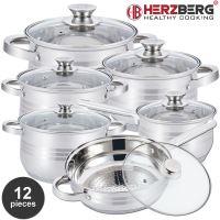 Herzberg HG-1241: 12-dílná sada z nerezové oceli