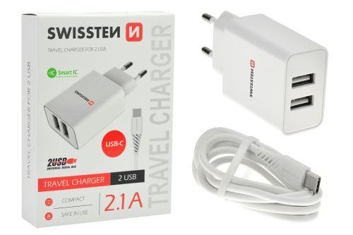 Nabíječka mobilních telefonů do sítě - USB-C 2.1A - 8595217464407