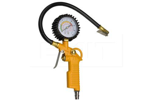 Nafukovací pistole s manometrem (24cm)- Žlutá - 6401400021963