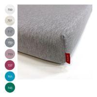 Aesthetic Prostěradlo bavlněný úplet s elastanem - do dětské postýlky - 70x140 cm - mix barev barev TYP: 703 - růžová