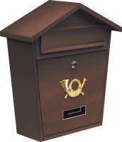Vorel Poštovní schránka se stříškou 380x320x105mm hnědá TO-78582