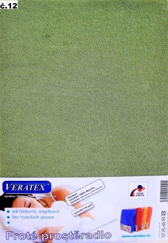 VERATEX Froté prostěradlo na masážní lůžko 60x190 lehátko (č.12-stř.zelená) SKLADEM POSLEDNÍ 1KS
