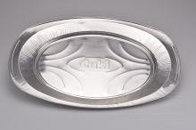 Oválný hliníkový tácek (42x28,5cm) - 10ks - 8591703222063