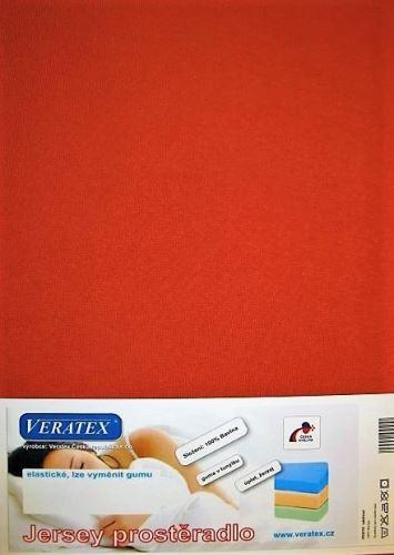 VERATEX Jersey prostěradlo 100x220 (č.17-rezavá)