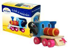 Dřevěný Krtek a mašinka (8593547131174)
