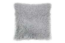 Luxusní povlak na polštářek s dlouhým vlasem 40x40 - Světle šedý