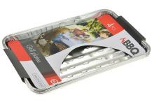 Grilovací hliníkové tácky BBQ - Set 4ks (34x23x2.5cm) - 8719202360882
