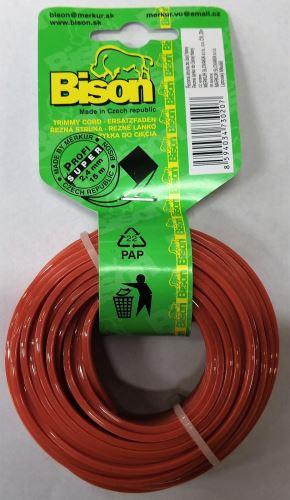 Bison SUPER PROFI (oranžová)- čtyřhranný profil 2,4mm 15m (207)