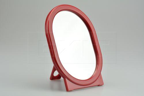 Oválné zrcátko se stojánkem (18.5x14cm) - Červené - 8592676000351