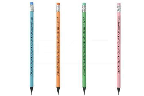 Trojhranná tužka HB s gumou EASY KIDS pastel - Mix barev 1ks - 5902693237709