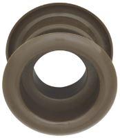 Mřížka plastová dveřní kruhová vnitřní průměr 40 mm hnědá světlá