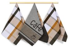 VERATEX Utěrky LUX 50x70cm 100% bavlna 3ks 172 kávička