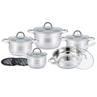 Kitchen Pro Plus KP-1252: 12dílná sada nádobí z nerezové oceli