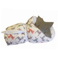 Aesthetic Rychlo-zavinovačka péřová - 100% bavlněné plátno - Bambi bílá/ bílá 75x75cm
