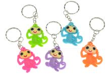 Plastový přívěšek na klíče GAZELO (3.5cm) - Opička - 1ks mix barev - 5900949406336