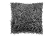 Luxusní povlak na polštářek s dlouhým vlasem 40x40 - Tmavě šedý - I9511