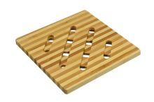 Bambusová podložka pod hrnce a pánve - Čtverec (12,5cm) - 8595589005802