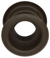 Mřížka plastová dveřní kruhová vnitřní průměr 40 mm hnědá
