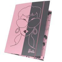 Složka s elastickým a4 barbie růžovo-šedým bam-109