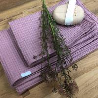 Aesthetic Bavlněný ručník/osuška s vaflovým vzorem - Lilac Rozměr: 95x150 cm