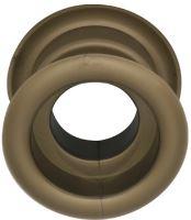 Mřížka plastová dveřní kruhová vnitřní průměr 40 mm grafiato