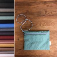 Aesthetic Lněná závěsná taštička/pouzdro se šňůrkou - MIX barev Barva: Graphite Grey