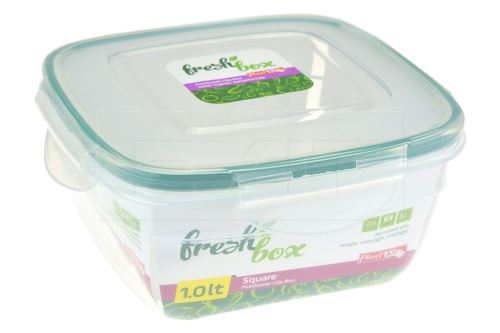 Čtvercový plastový box se silikonovým těsněním PLAST ART 1l - 8696219358265
