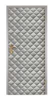 Koženkové čalounění dveří vzor KARO T3 barva Stříbrná velké 10x10