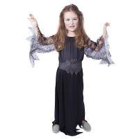 Dětský kostým černá čarodějnice/Halloween (S) (8590687885301)