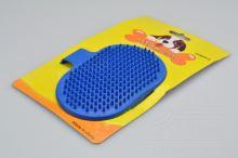 Silikonový kartáč na vyčesávání zvířecí srsti - Modrý (12,5cm) - 5902729401784