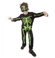 Dětský kostým kostlivec neon (S) (8590687610965)