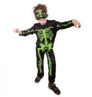 Dětský kostým kostlivec neon (M) (8590687610958)