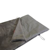 Aesthetic Fusak jarní/ přechodový 2v1 - Star bílá na šedé plátno /  šedá střední mikroplyš