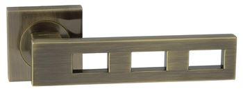 Dveřní dělené rozetové kování TRE-QR Klika štít hranatý