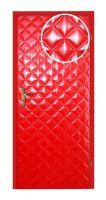 Koženkové čalounění dveří vzor KARO Červená lakovaná velké 10x10