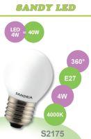SANDRIA LED žárovka E27 S2175 SANDY LED E27 B45 4W 4000K OPAL 360°