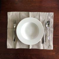 Aesthetic Lněné prostírání - mix barev - 100% len, gramáž 245g/m2 Barva: Oatmeal