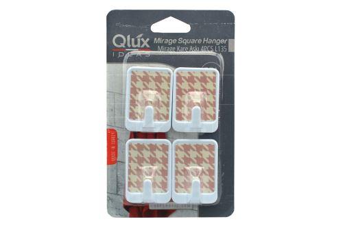 Plastové samolepící háčky QLUX (5cm) - Mix motivů - 8693395001350