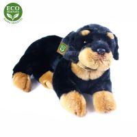 Plyšový pes rotvajler ležící 38 cm ECO-FRIENDLY (8590687021372)