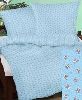 VERATEX Bavlněný povlak na polštář 70x90 cm modrý pejsek