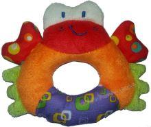 Bam bam chrastítko plyšový krab