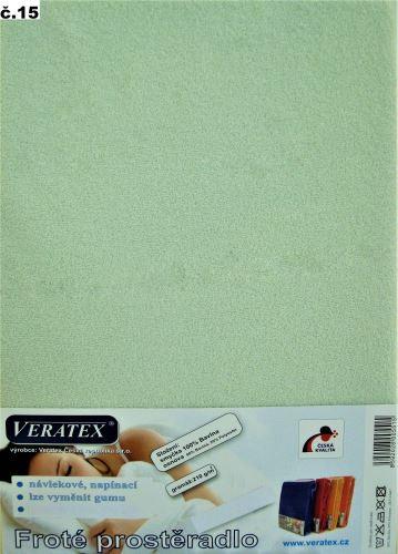 VERATEX Froté prostěradlo 180x220 cm (č.15 sv.zelená)