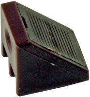 Plastový rožek s krytkou ke spojení polic a nábytku hnědá (4 ks.)