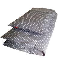Aesthetic Povlečení bavlněné plátno - STAR bílá na šedé Rozměr: 135x200, 70x90 cm